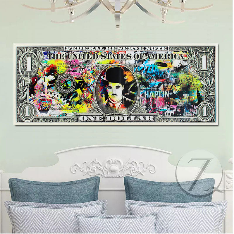 Canvas-Art-Print-1-Dollar-Bill-Painting-Posters-for-Home-Decoration