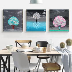 Canvas-Painting-Think-tree-with-Snow-sky-Wall-Art-Print-for-Home-decor