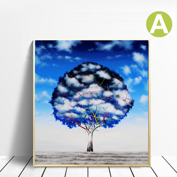 Grarriti-Wall-Art-Print-on-Canvas-Tree-under-the-Star-for-home-Decor