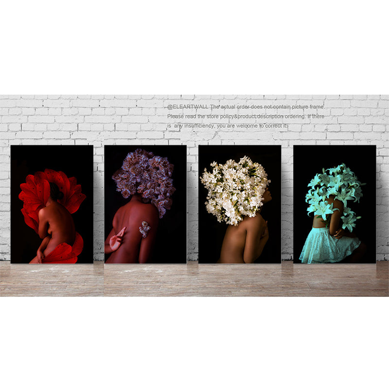 Wall-Art-picture-Prints-Black-Woman-on-Canvas-for-Living-room-decor