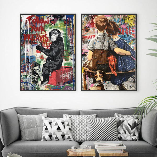 Graffiti-Pop-Art-Print-Follow-Your-Dreams-Abstract-Wall-Street-Art