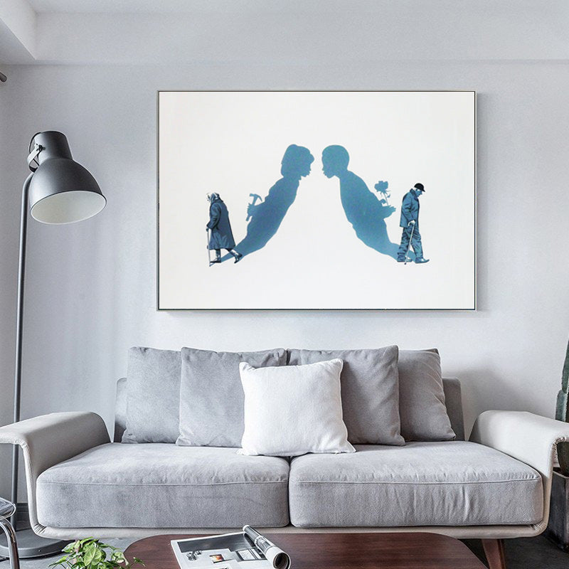 Modern-Wall-Art-Poster-Print-Couples-Love-Abstract-Canvas-Painting