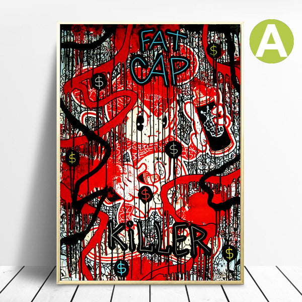 Graffiti-Picture-Wall-Art-Poster-Print-Spike-for-Living-Room-Decor