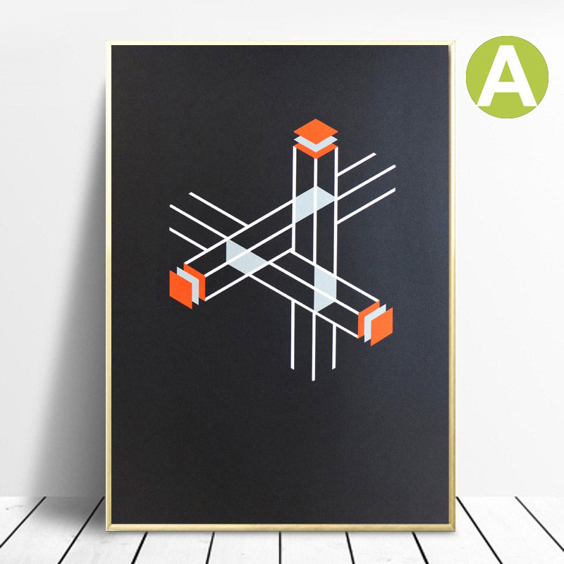 Abstract-Orange-Geometric-Shape-Canvas-Painting-Wall-Art-Print-Poster
