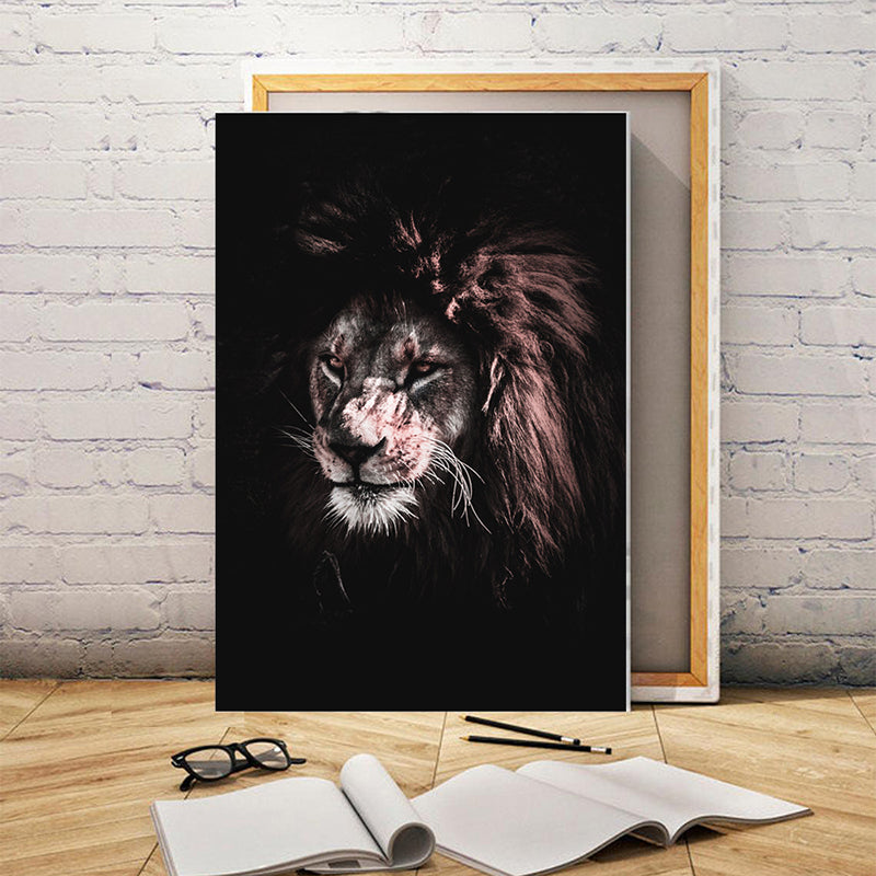 Angry Lion Wall Art Poster Animal Print