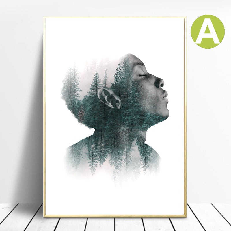 Wall-art-Poster-abstract-figure-painting-Faded-Portrait-Canvas-prints