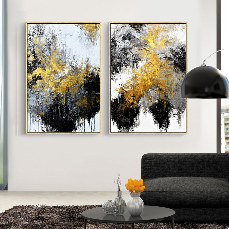 Nordic-Abstract-Black-Gold-Canvas-Wall-Art-Poster-Oil-Painting-Print