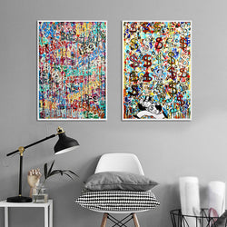 Life-is-Beautiful-Wall-Graffiti-Canvas-Prints-Street-Pop-Art-Poster