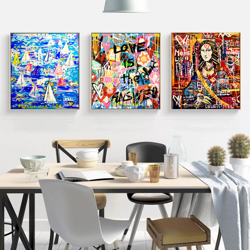 Modern-Graffiti-Canvas-Print-Pop-Mona-Lisa-Wall-Art-Poster-Home-decor