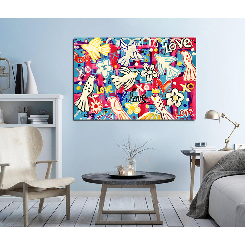Graffiti-Canvas-Painting-Print-Follow-Your-Dream-Wall-Art-Poster-Decor