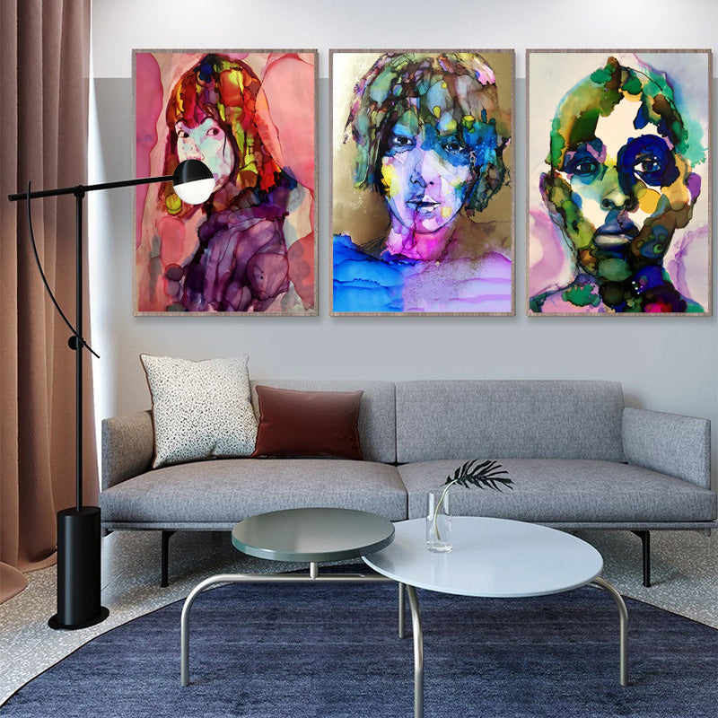 Wall-Home-Decor-Woman-Figure-Characters-Canvas-Abstract-Art-Poster