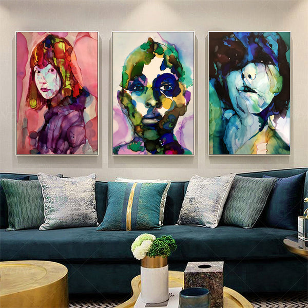Wall Decor Figure Characters Art Canvas