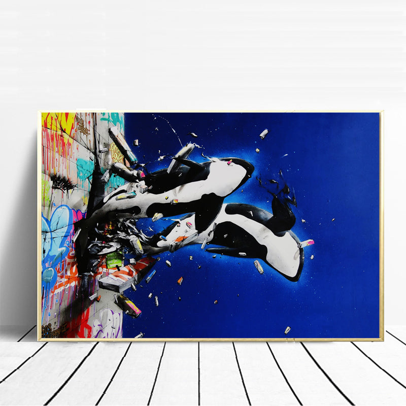Modern-Home-Decor-Killer-Whale-Wall-Art-Print-Poster-on-Canvas