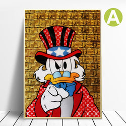 Wall-Art-Decor-Money-loving-Scrooge-McDuck-Canvas-Art-Poster-Print