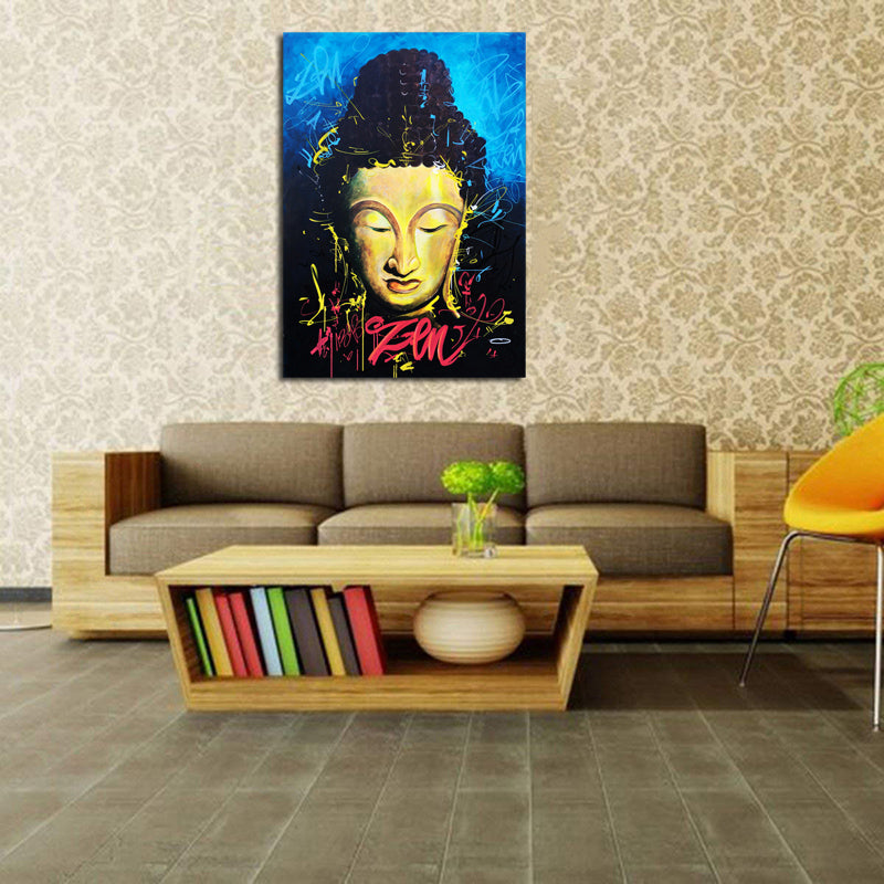 Graffiti-Canvas-Print-Pictures-Colorful-Woman-Wall-Art-Poster-Decor