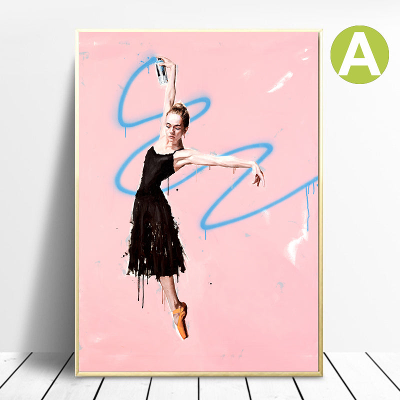 Modern-Canvas-Prints-Wall-Art-Poster-Ballerina-Dancing-Artwork-Print