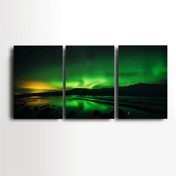 Landscape-Wall-Art-Poster-Aurora-Borealis-Scenery-Printing-on-Canvas