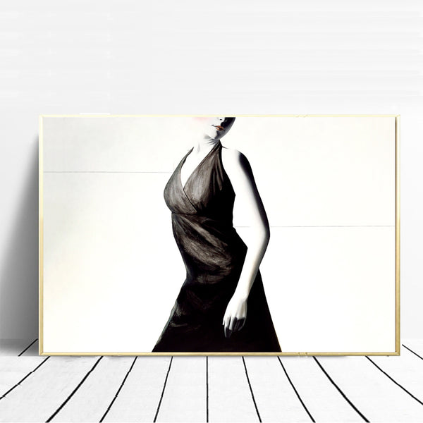 Canvas-Painting-Wall-Art-Poster-Print-Black-&-White-Sexy-Beauty-Woman