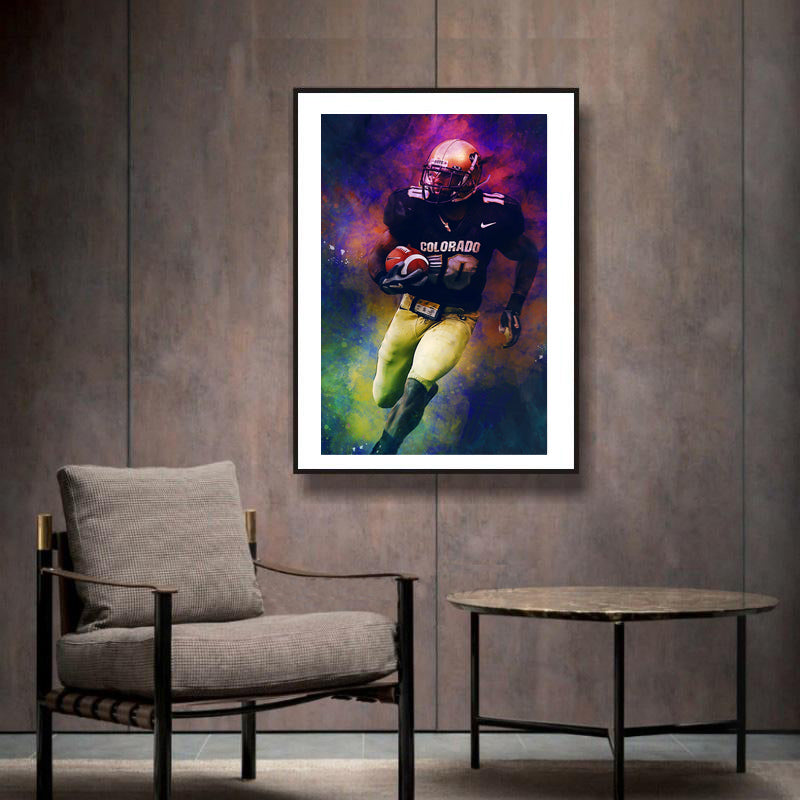Canvas-Wall-Art-Poster-American-Football-Player-Modern-Home-Decor