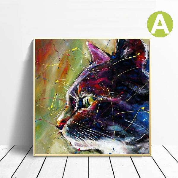 Safari-Graffiti-Animal-Wall-Art-Monkey-Dog-Cat-Canvas-Poster-Decor