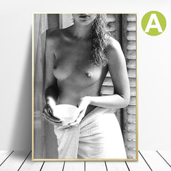 Wall-Art-Poster-Sexy-Nude-Naked-Women-Stretched-and-Framed-Bathroom-Bedroom