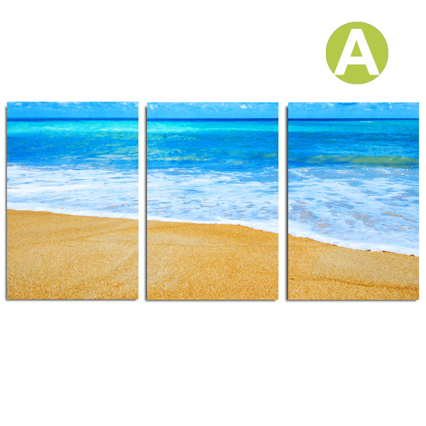 Modern-Beach-Wall-Art-Poster-Blue-Sea-Seascape-Picture-Print-On-Canvas