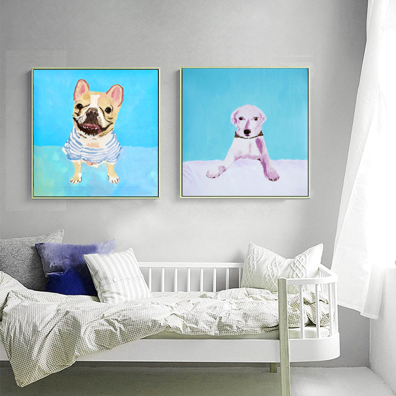 Wall-Art-Poster-Cute-Lovely-Dog-Animal-Painting-Print-Nursery-Decor