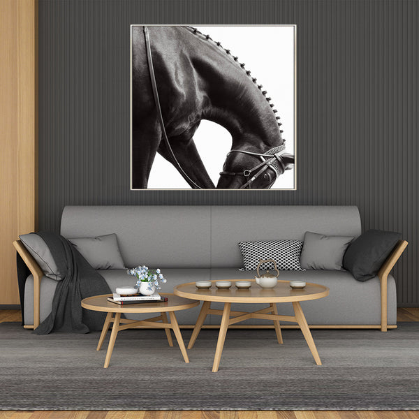 Black-&-White-Horse-Wildlife-Simple-Painting-Print-Wall-Art-Poster