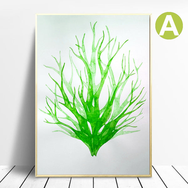 Watercolor-Green-Leaf-Banana-Canvas-Painting-Printing-Wall-Art-Poster