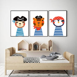 Baby-Nursery-Animals-Cute-Lion-Penguin-Canvas-Painting-Wall-Art-Poster
