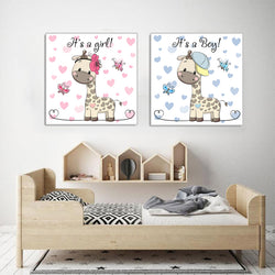 Nursery-Decor-Lovely-Giraffe-Animal-Wall-Art-Poster-Canvas-Print