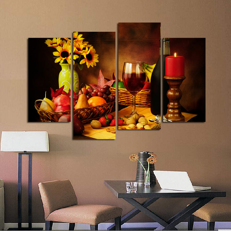 4Pcs-Red-Wine-And-Fruit-Picture-for-Kitchen-Room-Decor-Wall-Art-Canvas