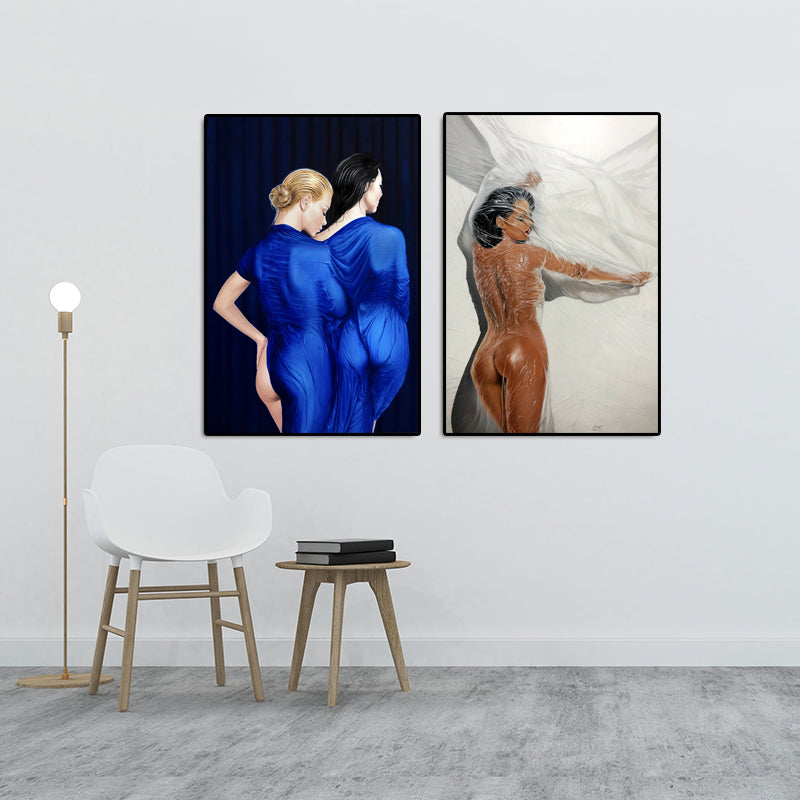 Modern-Sexy-Nude-Women-in-the-shower-Wall-Art-Poster-Picture-Canvas