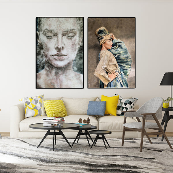Modern-Portrait-Women-pop-Art-Canvas-Poster-Print-for-Wall-Decor