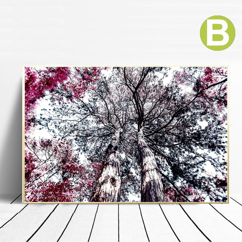 Foggy-Forest-Nature-Landscape-Poster-Nordic-Wall-Art-Print-Canvas