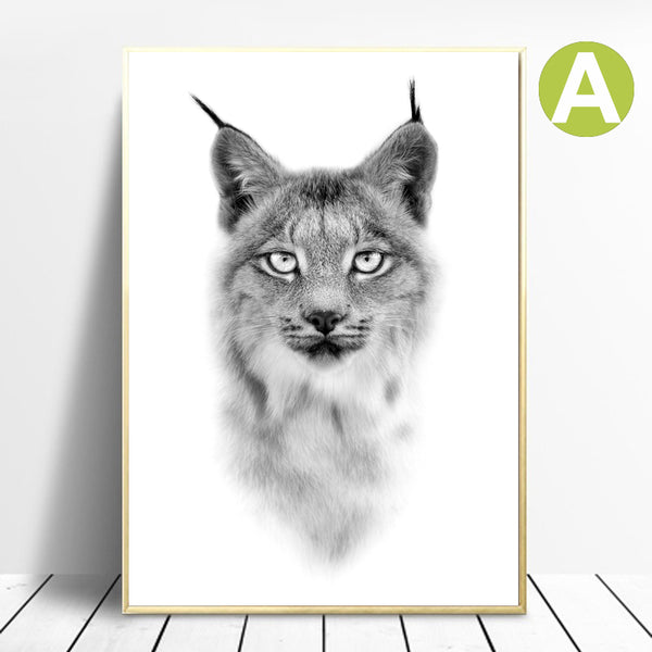 Black-White-Artwork-Lion-Wildlife-Animal-Art-Canvas-Poster-Wall-Decor