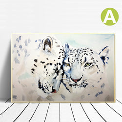 Watercolor-Animal-Couple-Leopard-Tiger-Wall-Art-Poster-Canvas-Print