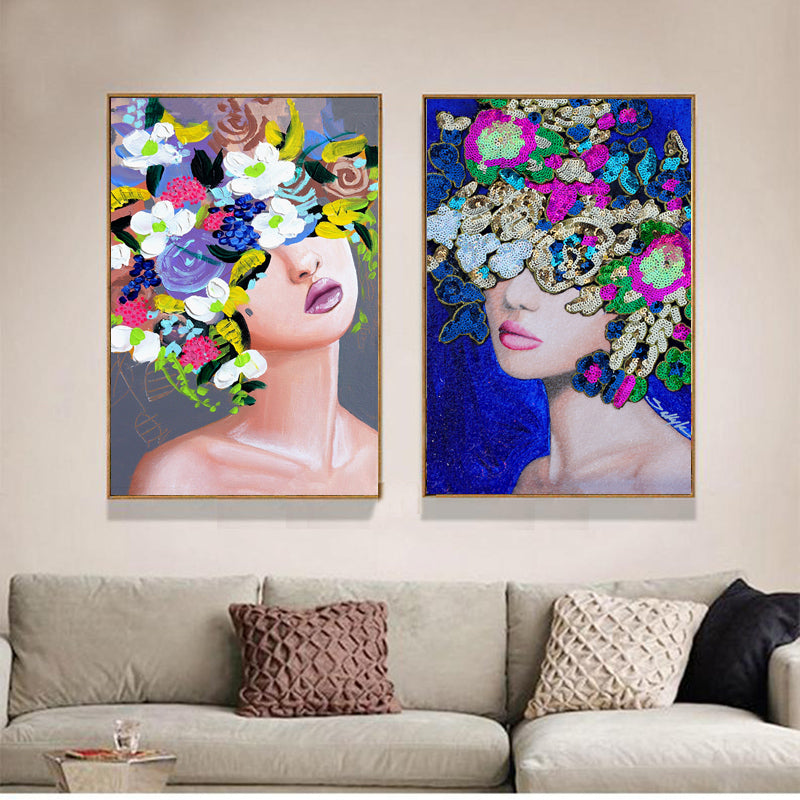 Flowers-Women-Artwork-Picture-Wall-Art-Poster-Canvas-for-Home-Decor
