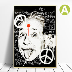 E=MC2-Einstein-Black-and-White-Picture-Wall-Art-Poster-for-Home-Decor