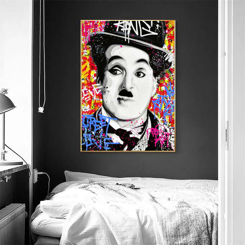 Chaplin-Graffiti-Paintings-Canvas-Colorful-Poster-Portraiture-Art