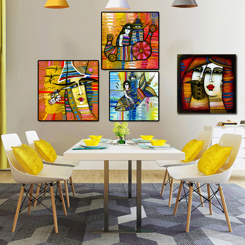 Abstract-African-Women-Artwork-Poster-Wall-Art-Canvas-Painting-Print