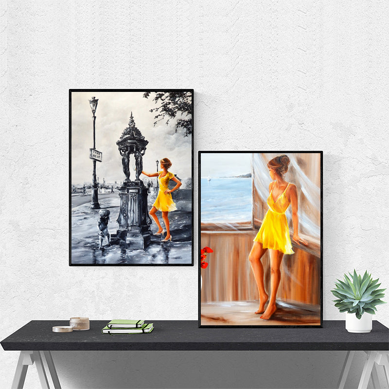 Women-View-on-the-Sea-Graffiti-Artwork-Art-Canvas-Print-Wall-Poster