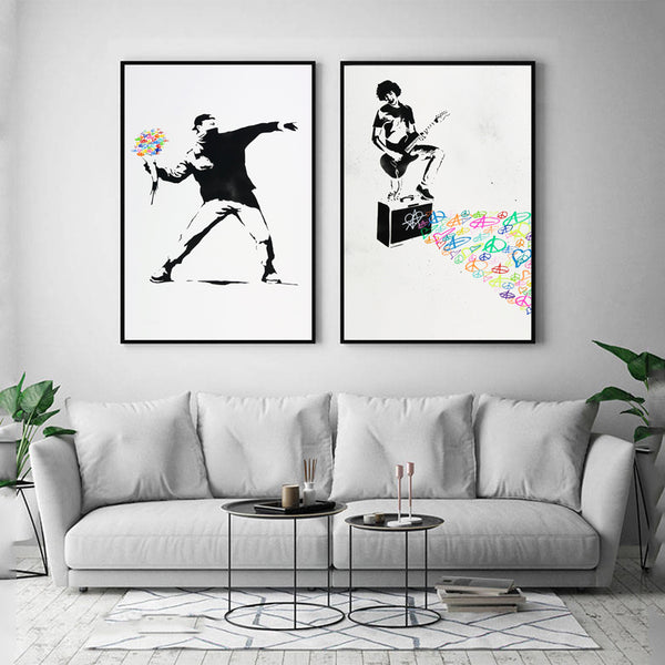 Nordic-Peace-Love-Banksy-Canvas-Art-Print-Nordic-Poster-Wall-Picture