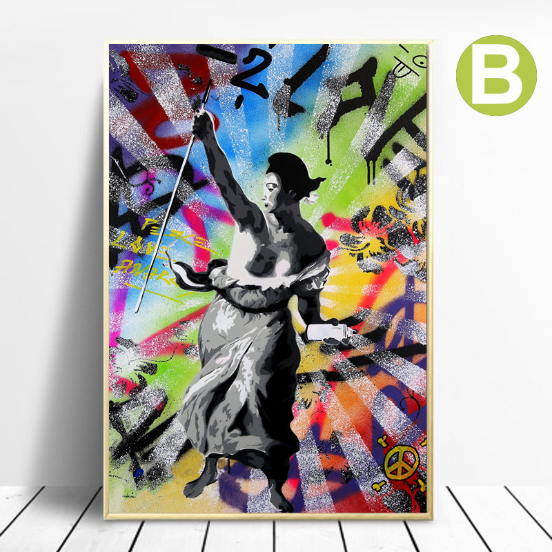 Banksy-French-Revolution-Canvas-Digital-Prints-Wall-Art-Poster-Decor
