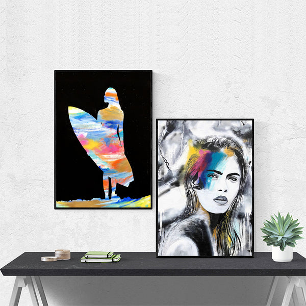 Graffiti-Wall-Art-Colorful-Poster-Surf-Canvas-Print-Home-Decoration