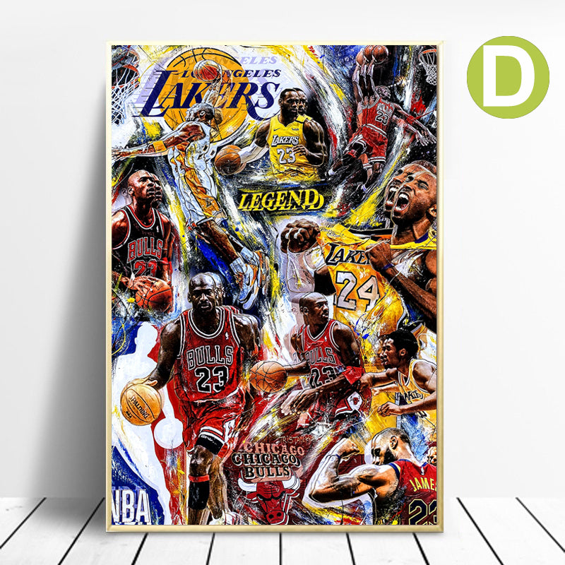 Jordan Vintage Poster Wall Art Canvas