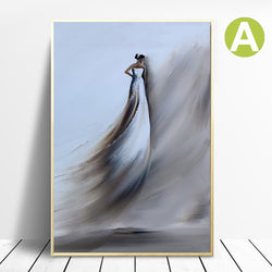 Nordic Style Wedding Dresses Women Wall Poster
