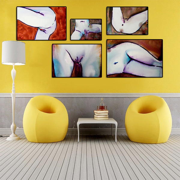 Abstract-Nude-Women-Digital-Painting-Print-Sexy-Canvas-Wall-Art-Poster
