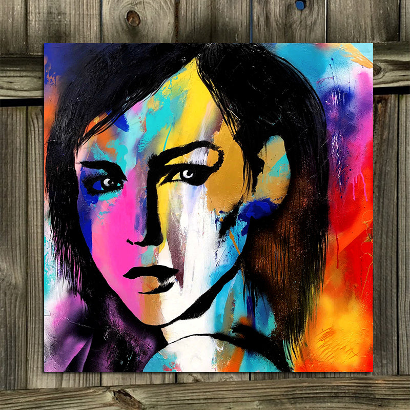 Graffiti-Woman-Portrait-Painting-Print-Wall-Art-Canvas-Poster-Decor