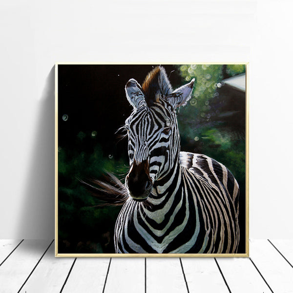 Graffiti-Oil-Painting-Print-Zebra-Animal-Wall-Art-Canvas-Poster-Decor